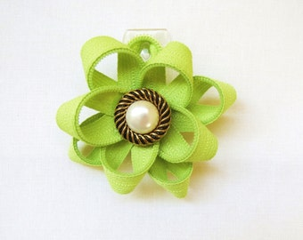 Zipper Flower Pin, Flower Pin, Brooch
