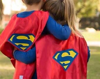 Halloween Super Woman cape Super girl Hero Cape for kids