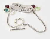 Personalized Identity Bracelet with Option for Back Engraving