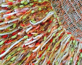 Coral Mint Lime Throw Blanket. Fringe Outdoor Decor for Alfresco en Plein Air Afghan