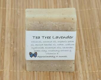 Tea Tree Lavender Essential Oil Soap, 4 Ounces