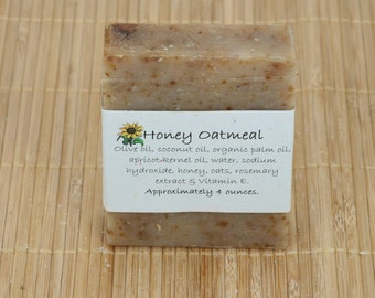 Honey Oatmeal Soap, 4 Ounces