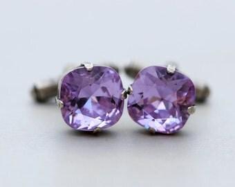 Amethyst,Jewelry Gift,Groomsmen Gift, Cufflinks Men's Cufflinks Wedding Men's Accessories Gift Boxed