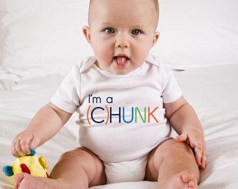 Funny Baby Onesie - I'm a (C)HUNK