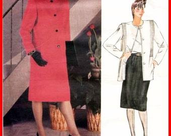 Vintage VOGUE 1388 Sewing Pattern JOSEPH PICONE Jacket Coat & A-Line Skirt - American Designer Pattern Women's Size 14