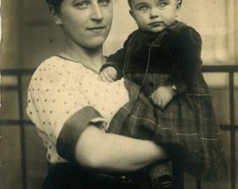 "Vintage Photo Postcard ""Ellen DeGeneres Look-a-Like, Perhaps"" Antique Photo Black & White Photograph Found Paper Ephemera Vernacular - 90"