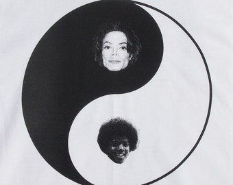 Michael Jackson Yin Yang shirt- American Apparel white- available in s,m, l, xl, xxl- WorldWide Shipping