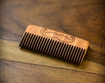 Beard Comb for your Beard Care - Gift for Him - Wood Comb - Mustache Comb - Wood Beard Comb