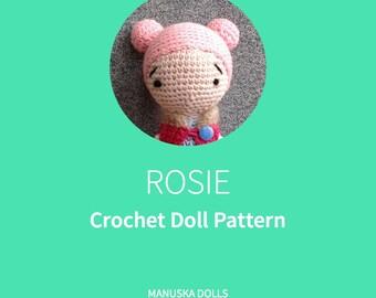 Rosie | Crochet Doll Pattern, PDF file Pattern, Crochet Pattern Doll, Crochet Pattern, Rosie Doll Pattern