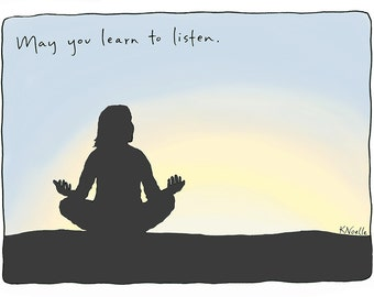 Blessing Series Greeting Card: Listen
