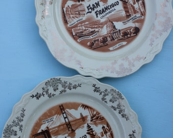 Vintage State, City  Plate - San, Francisco, California Souvenir, Homer Laughlin