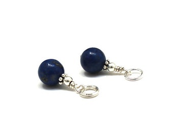 Lapis Lazuli Gemstone Charm for Zipper Purse Bracelet Earring Bridesmaids Gift on a Budget Party Favors Gift from Mother for Daughter In Law