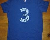 Birthday Shirt - 3 year old shirt - 3rd Birthday - Number Shirt - Birthday Boy, Birthday Girl - Party - Kids Tshirt Size 4 - Gift Friendly