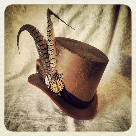 Mad Hatter, Alice in Wonderland, Steampunk Hat, Mini Top Hat, Top Hat, Tea Party, Sherlock, Gothic Hat, Lolita, Cosplay, Mens Steampunk Hat