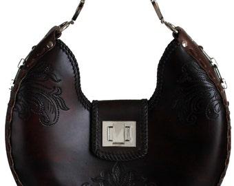 Tooled Leather Handbag - Mammoth