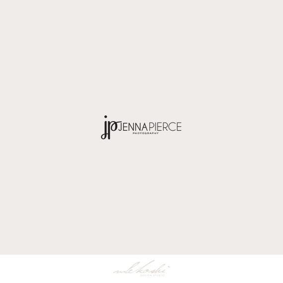 Typography Logo Design, Premade Logo for Photographer. Fashion Logo Design, Calligraphy Logo. Initials Logo, Watermark Logo Typography