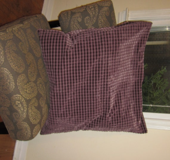 Large Fuzzy Purple Floor Pillow Cover 30x30in by PurpleHeritage