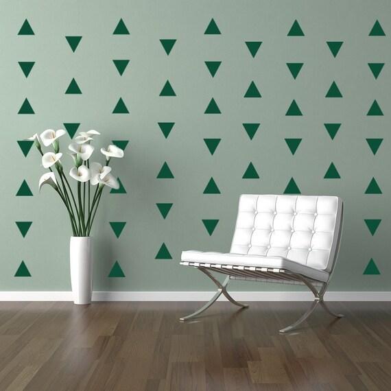 Triangles Decal Geometric Vinyl Decal Wall Art Baby Boy or Girl Nursery