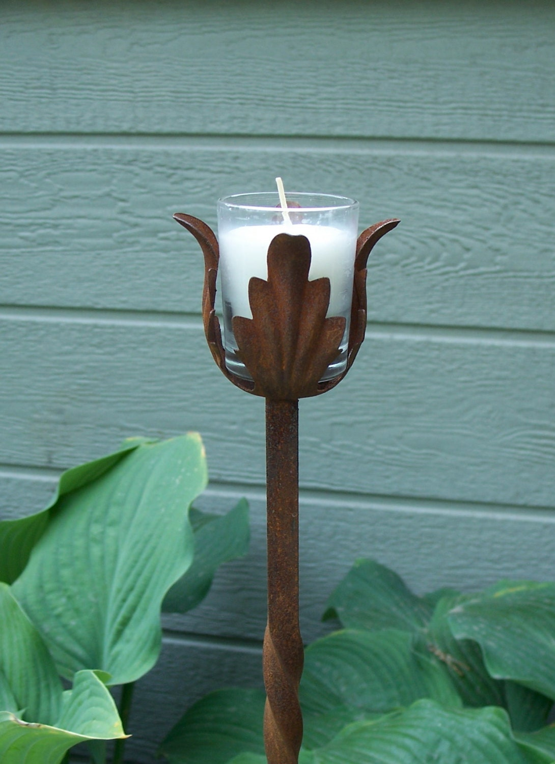 outdoor candle holders for your garden tall steel by