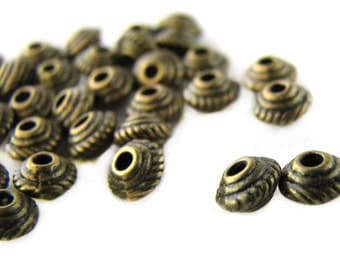Spacer Beads : 100 pieces Antique Bronze Cone Spacer Beads | Brass Ox Bead Spacers 5x3mm ... Lead, Nickel & Cadmium Free 10167-1.Q