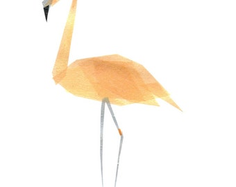 Betty Flamingo - Animal Art Print