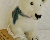 Polar Bear Sculpture- needlefelted