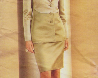Bill Blass Womens Evening Jacket and Skirt Vogue American Designer Sewing Pattern 2543 Size 18 20 22 Bust 40 42 44 UnCut