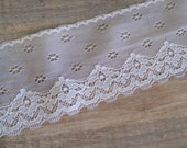 White Lace Trim Yardage Fabric Trimmings
