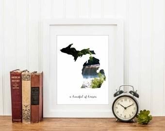 A handful of heaven - Michigan - photography - waterfall - nature - upper peninsula - great lakes - trees - landscape - michigan photography