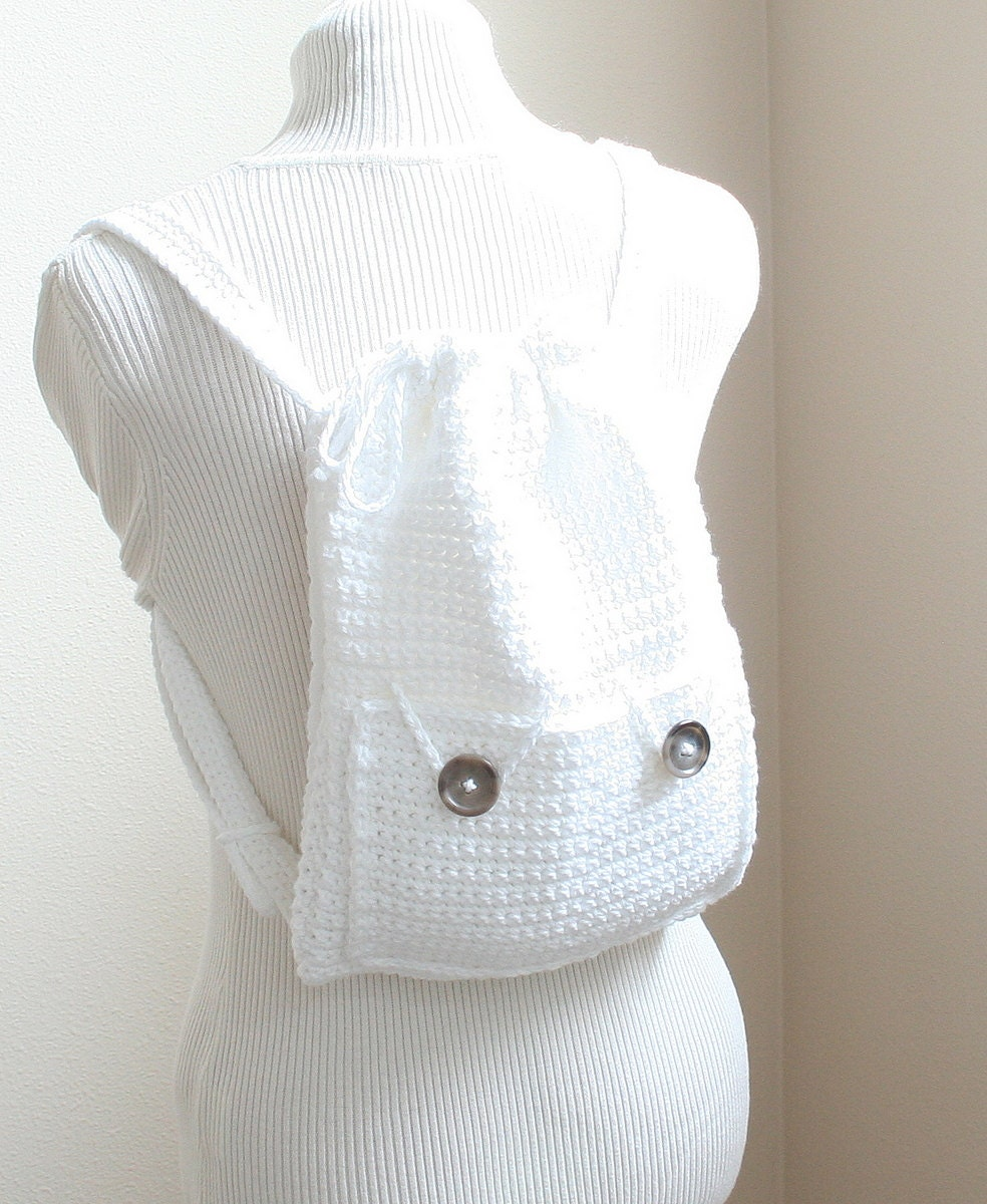Crochet Backpack Pattern : DIGITAL PATTERN:Crochet Backpack by KnitsyCrochet on Etsy