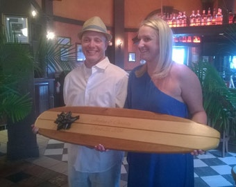Personalized Surfboard Wall Hanger Wedding Signature Surfboard Customized Surfboard