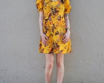 vtg 70s floral dress