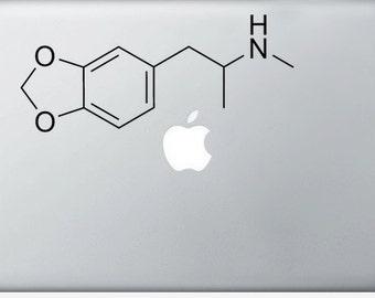 MDMA Compound Molecule laptop DECALS- macbook iPad computer- chemical structure, ecstasy- vinyl sticker