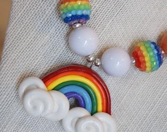 Rainbow Chunky Necklace - Adorable