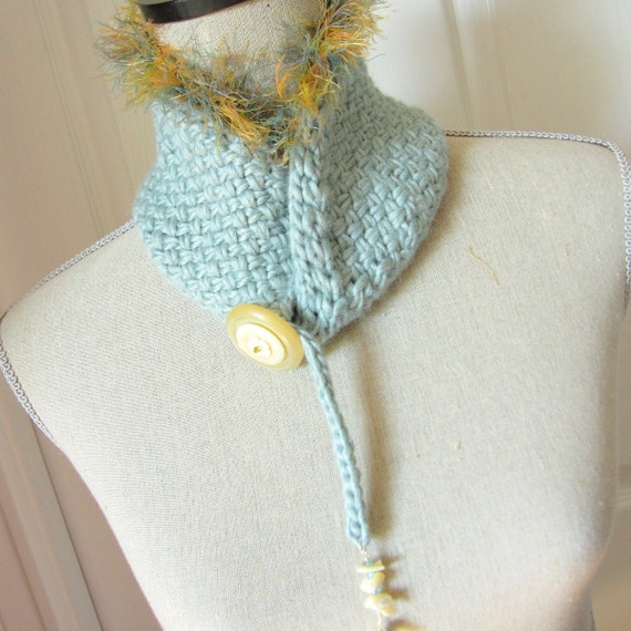 PDF Knitting Pattern - Scarf / Collar / Scarflette / Cowl - Sassy from OhmayD...