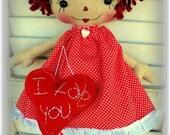 Primitive, Raggedy Ann Doll, Retro, Heart