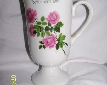 Lovely Pink Rose Cup Vase