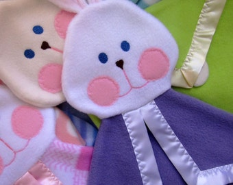 Baby bunny security lovey blanket in Lilac Fisher Price Bunny Puppet blanket Replica