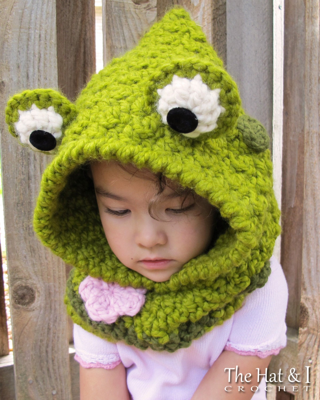 Crochet pattern frog fun chunky crochet hooded cowl zoom bankloansurffo Images