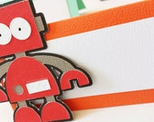 Robot Food Tags Place Holder Set of 12 By Your Little Cupcake