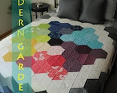 iQuilt Modern - Grandmother's Modern Garden Quilt Pattern FULL/TWIN & BABY