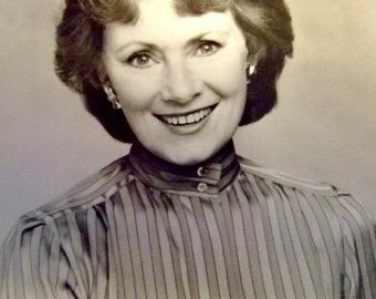 Vintage Black and White Photograph of Actress Marion Ross, Happy Days, Marion Cunningham, Classic TV Sitcom Mom, Gift for Her, Christmas