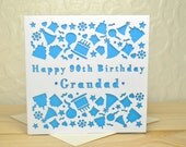 Birthday Card Personalised Laser Cut