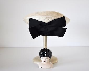 Vintage Hat Woven Sisal Summer Beret Plaza Suite by Betmar
