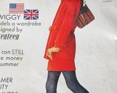 Seventeen magazine 1967 Twiggy cover Mod red blue British Union Jack