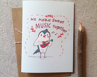 Sweet Music Owl Card