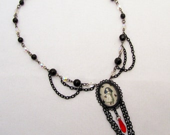 Beaded Gothic Lolita Fairytale Inspired Necklace