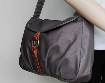 Fortuner-S, Sale SALE SALE - Waxed Canvas Grey, Laptop bag, Shoulder Bag, Messenger Bag, Handbag, Women, Gift for her,  40% OFF