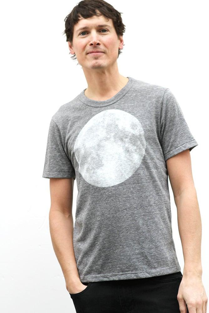 Men 39 S Moon Heather Grey Shirt Super Soft T Shirt