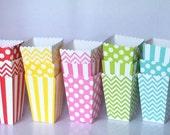 Favor Boxes Popcorn Boxes Treat Boxes Party Favors Polka Dot Chevron Stripe Candy Boxes Nut Boxes Birthday Party Boxes Birthday Favors